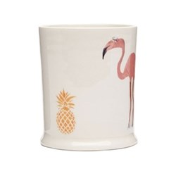 Flamingo & Pineapple Mug, 30cl - H9.5cm