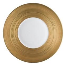 Hemisphere Presentation plate, 31cm, full gold rim