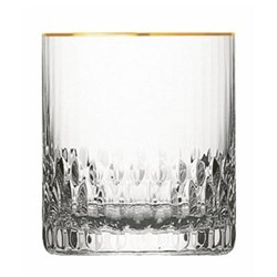 Apollo Cylindrical tumbler, gold rim