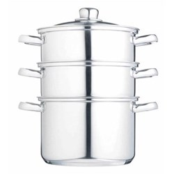 Steamer set 3 tier, 20cm, stainless steel