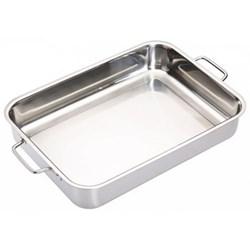 Deep roasting pan, 37 x 27cm, stainless steel