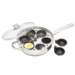 Clearview Egg poacher with 6 compartments, 28cm, stainless steel