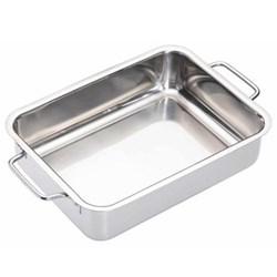 Deep roasting pan, 27 x 20cm, stainless steel