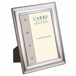 "LR Series - Plain Photograph frame, 8 x 6"", sterling silver with mahogany finish back"