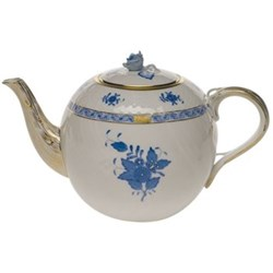 Apponyi Teapot with rose handle, 1.8 litre, blue