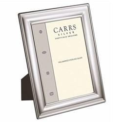 "LR Series - Plain Photograph frame, 7 x 5"", sterling silver with blue velvet back"