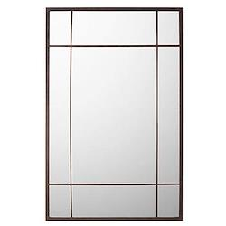 Ikkuna Mirror, L90 x H140cm, black iron