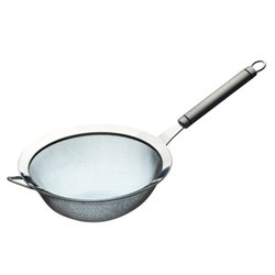Oval Handled Strainer, 18cm, stainless steel