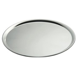 Uni Round serving tray, 24cm, silver plate