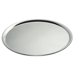Uni Round serving tray, 36cm, silver plate
