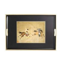 Traditional Range - Ming Polo Traditional tray, 55 x 39.5cm, black