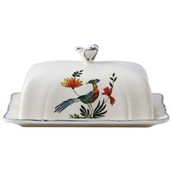 Oiseaux de Paradis Butter dish, 17.8 x 13.5cm
