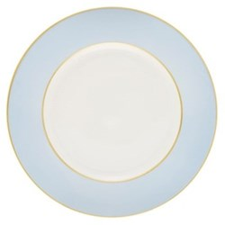 Sous le Soleil Dinner plate, 26.5cm, ice blue with classic matt gold band