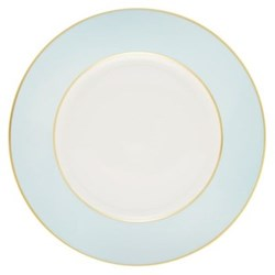 Sous le Soleil Dinner plate, 26.5cm, opal with classic matt gold band