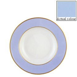 Sous le Soleil Soup plate, 22.5cm, ice blue with classic matt gold band