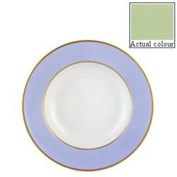 Sous le Soleil Soup plate, 22.5cm, pastel green with classic matt gold band