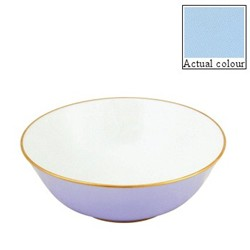 Sous le Soleil Open vegetable dish/salad bowl, 25cm, opal with classic matt gold band