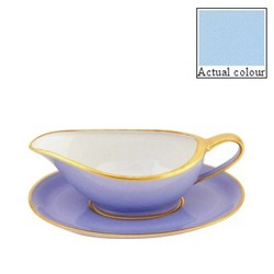 Sous le Soleil Sauce boat and stand, opal with classic matt gold band
