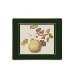 Traditional Range - Hooker Fruits Set of 6 placemats, 24 x 20cm, bottle green