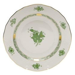 Apponyi Dessert plate, 23 x 2.5cm, green