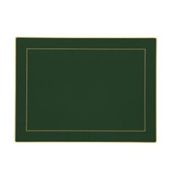 Screened Range Set of 4 continental placemats with frame line, 39 x 29cm, bottle green