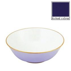 Sous le Soleil Open vegetable dish/salad bowl, 25cm, cobalt blue with classic matt gold band