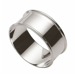 Rolled Edge Napkin ring, H2cm, sterling silver
