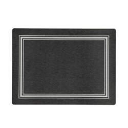 Melamine Range Set of 4 placemats, 30 x 22cm, black with silver frame line