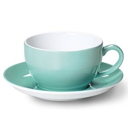 Solid Colour Tea/coffee cup, 25cl, seawater green