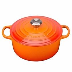 Signature Cast Iron Round casserole, 22cm - 3.3 litre, volcanic