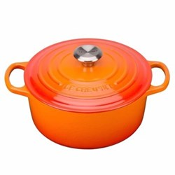 Signature Cast Iron Round casserole, 30cm - 8.1 litre, volcanic