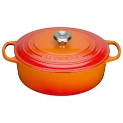 Signature Cast Iron Oval casserole, 27cm - 4 litre, volcanic
