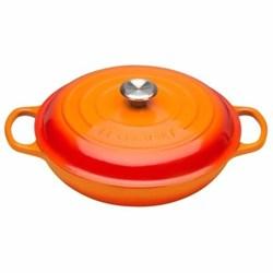 Signature Cast Iron Shallow casserole, 30cm - 3.2 litre, volcanic