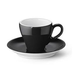 Solid Colour Espresso saucer, black