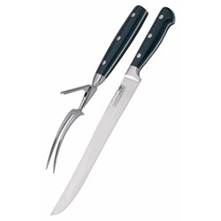 Carving set, stainless steel