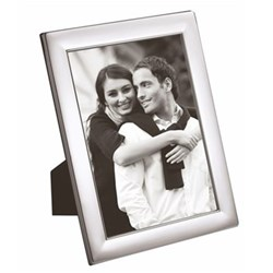 """W Series - Plain Photograph frame, 7 x 5"""", silver plate with mahogany finish back"""