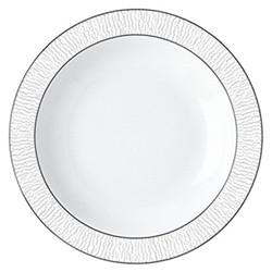 Dune Deep round dish, 29cm, platinum