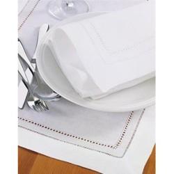 Kerry Border Set of 6 napkins, 56 x 56cm, hand drawn thread work