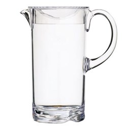 Coolmovers Jug with lid, 1.6 litre, clear polycarbonate