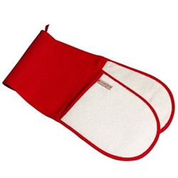 Textiles Double oven glove, red