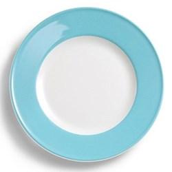 Solid Colour Plate with rim, 26cm, sky blue