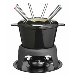 Fondue set, black