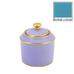Sous le Soleil Sugar bowl straight sided, 20cl - 6 cup, turquoise with classic matt gold band