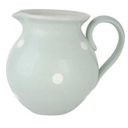 White Spot Round jug large, 25cm, blue