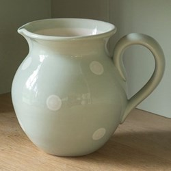 White Spot Round jug medium, 19cm, blue