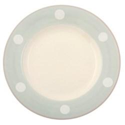 White Spot Side plate, 20cm, blue