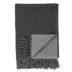 Plain Cashmere throw, 190 x 140cm, dark grey/light grey