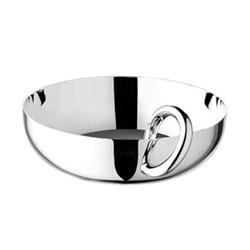 Vertigo Bowl with bangle, 17cm, Christofle silver