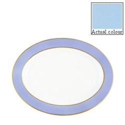 Sous le Soleil Oval platter, 36cm, opal with classic matt gold band