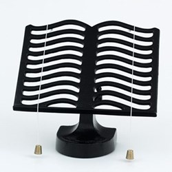 Cook book stand, black cast iron